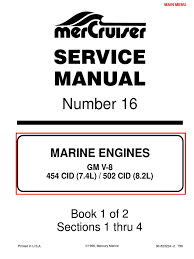 7 4l 454 mercruiser manual gasoline internal combustion engine
