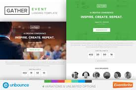 Eventbrite Design Templates Unbounce Event Landing Page Template Gather Concert