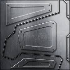 Scifi Wall Metal Background And Texture 3d Illustration Stock