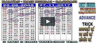 Kalyan Mumbai Penal Chart 12 Abundant Kalyan Penal Chart 2019