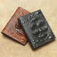 embossed leather gifts 2018 2018 men genuine leather wallet crocodile embossed slim purse for men