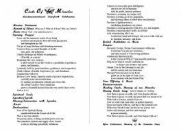 Superb Insssrenterprisesco Church Free Wedding Ceremony Program ...