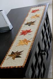 scrappy fabric pumpkin art   Quilt projects   Pinterest   Pumpkin ... & Autumn table runner quilted Adamdwight.com