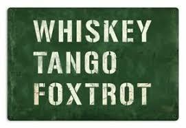 Spell golf using the phonetic alphabet. Whiskey Tango Foxtrot Metal Sign Phonetic Alphabet What The Sig 0159 Ebay