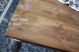 DIY Wood Planked Table Top- Farmhouse DIning Room Table- From My Front  Porch To