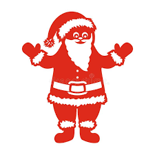 Cut Out Character Template Santa Claus A Template For Laser Cutting Stock Vector
