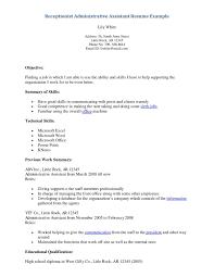 Sample Medical Receptionist Resume Download Medical Secretary
