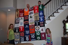 Grandson's sport jersey quilt & Attached Images Adamdwight.com