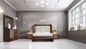 Pics Of Modern Bedrooms Carmen Walnut Queen Size Bed Carmen Esf Furniture Modern Bedrooms