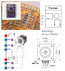 testing the motor drivers the motors cadduino wiring diagram the robotdigg nema 17 motors motorwiring2 002