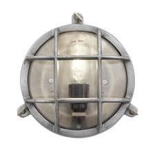 industrial wall lights. Vintage Industrial Round Wall Light / Flush Mount Bulkhead IP44 Lights L