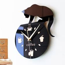 Kitchen Wall Clocks Modern Compare Prices On Black Kitchen Clock Online Shopping Buy Low