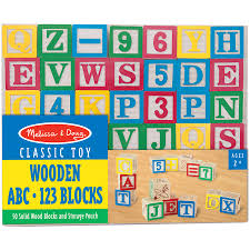 melissa doug classic abc wooden block cart educational toy with 30 solid wood blocks com