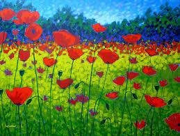 flowers painting poppy field by john nolan