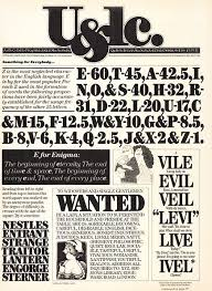 Example Of A Wanted Poster Awesome Looking Back At Working With The Legendary Herb Lubalin Ulc