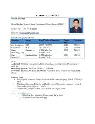 Resume Format Pdf Custom International Standard Resume Format Pdf Curriculum Vitae House