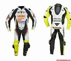 motorbike custom made racing leather suite zoom helmet