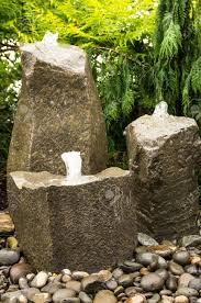 water rock fountain ingenious inspiration ideas 8 three fountains bubbling in a garden stock photo