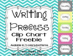 Writing Process Clip Chart Writing Process Clip Charts Writing Writing Lessons
