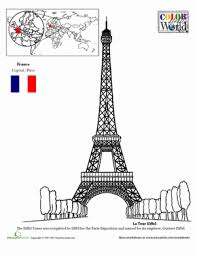 Small Picture Eiffel Tower Worksheet Educationcom