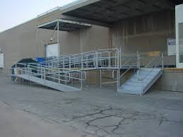 commercial industrial aluminum sectional ramp accessibility