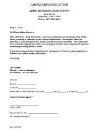 Employment Verification Letter Template Doc Sample Employee
