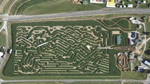 corn maze cherry crest adventure farm aerial