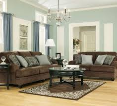 Crawford Chocolate Living Room Set By Ashley Furniture. Has Matching Accent  Chair With The Same Living Room Paint Color ...
