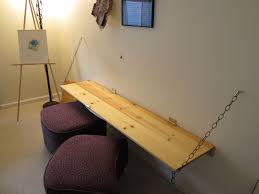 Diy wall mounted folding desk Hinged Table Top Fanciful Diy Folding Desk Custom Wood Wall Mounted Fold Up With Chain Plus Dark Purple Sciencefictionfantasyinfo Fanciful Diy Folding Desk 34 Best Image On Pinterest And Above The
