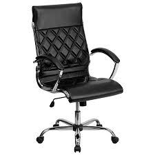 Flash Furniture GO-1297H-HIGH-BK-GG High-Back Black Designer ...