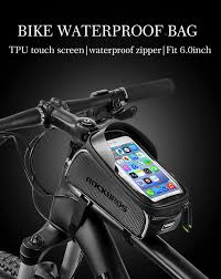 "<b>ROCKBROS</b> Cycling MTB Bike Bicycle Bag 6"" Waterproof <b>Touch</b> ..."