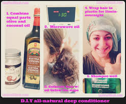 hippie diy olive and coconut oil hair mask forblush
