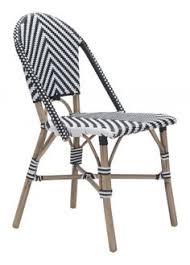paris dining chair black white set of 2
