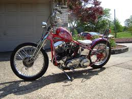 love cycles 1956 flh persimmon panhead for sale