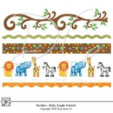 jungle animals border clipart. Contemporary Animals Printable Border Animals Clipart 1 And Jungle O