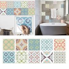 20 x 20CM <b>Colored Waterproof</b> Wall Tile <b>Sticker Kitchen</b> Bedroom ...