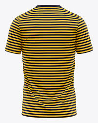 How will your tee look in everyday life? Men S Crew Neck T Shirt Mockup Back View In Apparel Mockups On Yellow Images Object Mockups