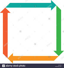 Four Square Chart Template Flat Square With Four Arrows For Infographic Template For