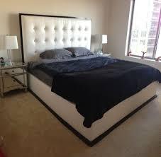 Custom Made Tufted Headboard Platform Bed