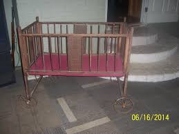 auction for antiquevintage gem wood baby crib bed with