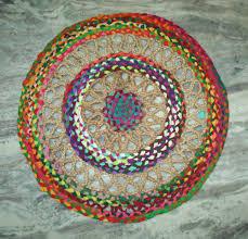 Non-slip Vintage Indian Rag Rug Jute Carpet Doormat Rug Mat Cover ...