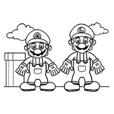 mario bros coloring pages. Wonderful Bros Mario Bros Coloring Pages In O
