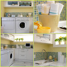 sarah richardson yellow laundry room