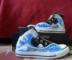 Cool Designs To Paint On Shoes Painted Converse Shoe Makeover 7 Steps With Pictures