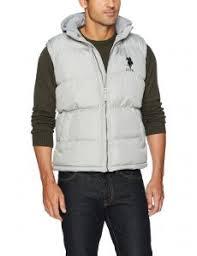 U S Polo Assn Mens Standard Puffer Vest Limestone 5603