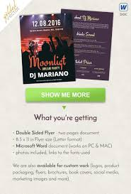 Concert Flyer Design Party Flyer Design Letter Size Flyer Template Double Sided Brochure Word Flyer Template Printable Flyer