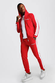 Boohoo pantalon à boutons moutarde. Man Official Velour Tracksuit With Side Tape Boohoo