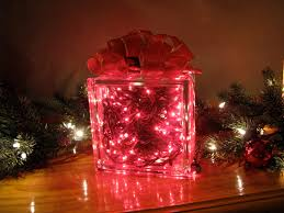 glass lighted gift box