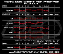 Propper Size Chart Propper Bdu Size Chart Www Bedowntowndaytona Com