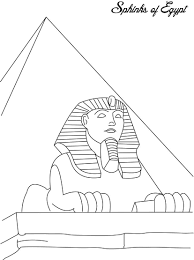 Small Picture Sphinks of Egypt coloring page for kids